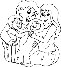 baby family coloring kids baby coloring pages
