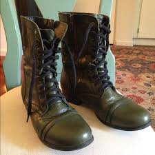 lace up moto boots steve madden shoes troopa olive green lace up moto boot poshmark