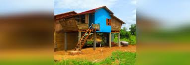 these affordable bamboo houses were built for just 2 500 each