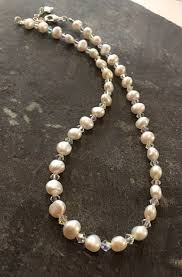 pearl swarovski crystal necklace images Freshwater pearl swarovski crystal necklace fn04 jpg