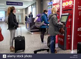 bristol airport bureau de change airport atm stock photos airport atm stock images alamy