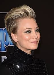 why did kaley christine cuoco sweeting cut her hair get the look kaley cuoco sweeting s up swept style by christine