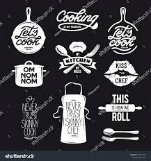cooking related typography set quotes about stock vector 458661394