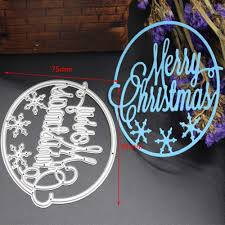 aliexpress com buy merry christmas circle frame metal cutting