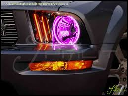 Pink And Black Mustang Oracle 05 09 Ford Mustang Led Dual Color Halo Rings Headlights Bulbs
