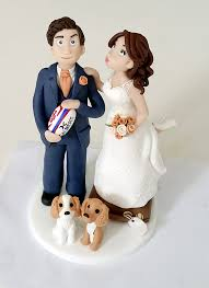rugby bride u0026 groom claytastic cake toppers pinterest