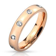 gold eternity rings stainless steel gold eternity ring w czs wholesale 925express