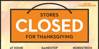 stores closed on thanksgiving shopping 2015