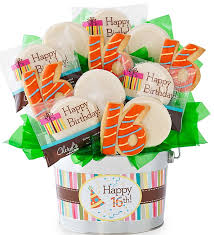 birthday delivery ideas 16th birthday flower pot