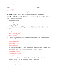 Worksheet Word Equations Density Word Problems Worksheet Answers Density Word Problems