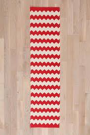 Chevron Runner Rug And White Chevron Zigzag Runner