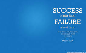 a lesson about success and failure by winston churchill
