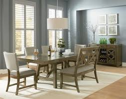 standard furniture omaha grey casual dining room group wayside
