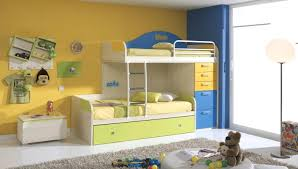 Childrens Bunk Bed With Desk Decoration Childrens Bunk Bed With Desk Kid Beds Flower Motif