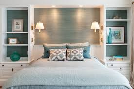 Boston Bedroom Sconce Traditional With Blue Gray Bedding Square - Boston bedroom