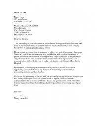 sample cover letter nursing student cover letter for nursing