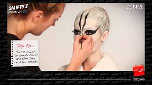 Zebra Halloween Makeup by Zebra Face Painting Make Up Tutorial Youtube