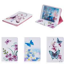 bf for apple mini 4 7 9 flower butterfly pattern pu leather