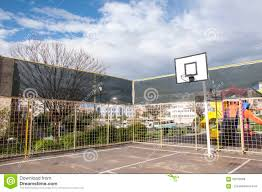 outdoor basketball court in springtime izmir turkey editorial