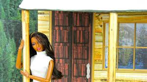 how to make a dollhouse cabin doll crafts youtube