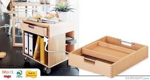 bureau haba tiroir avec casier pour le container à roulettes matti haba