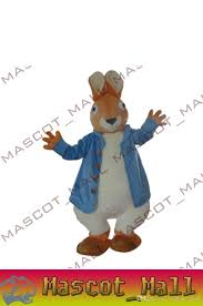 Halloween Mascot Costumes Cheap Mall314 Peter Rabbit Mascot Costumes Plush Doll Size Fancy