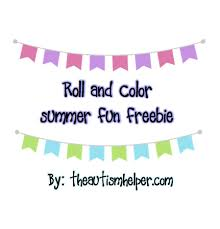 summer roll and color freebies the autism helper