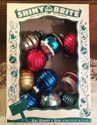 ornaments shiny brite ornaments vintage mid