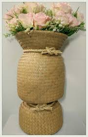 big vases home decor wicker vase krajood vase natural weave vase big sized basket weave