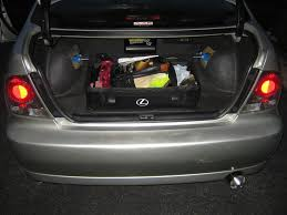 lexus ls430 bilstein restraining grocery bags in the trunk actually make that