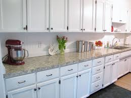 Backsplash For Kitchen With Granite The Modest Homestead How To Paint Your Countertops To Look Like