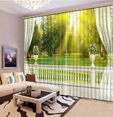 Yellow Curtains For Living Room Online Get Cheap Tree Curtains Aliexpress Com Alibaba Group