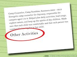 Sample Of Nanny Resume by How To Write A Resume For A Nanny Job 10 Steps With Pictures