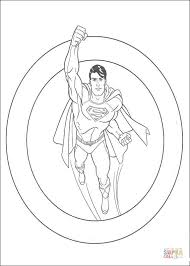 superman ready figthing free coloring pages space