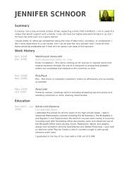 warehouse resume skills summary customer warehouse associate resume sles visualcv resume sles database