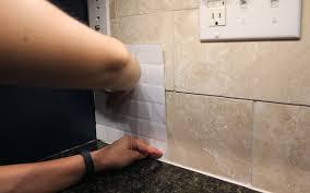 The Easy Way To Retile A Backsplash Smart Tiles Review FUJI FILES - Smart tiles kitchen backsplash