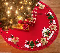 Poinsettia Christmas Tree Skirt Bucilla Gingerbread House 43