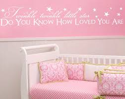 Nursery Sayings Wall Decals Twinkle Wall Decal Etsy