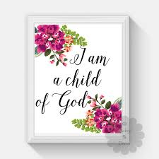 A M Home Decor I Am A Child Of God Bible Verse Christian Quote Scripture