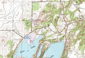 topo maps wisconsin my wisconsin space topographic map of rice and whitwater lakes