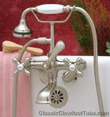 Shower Faucet For Clawfoot Tub Clawfoot Tub British Telephone Faucet W Hand Held Shower