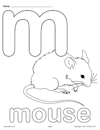 Letter M Alphabet Coloring Pages 3 Free Printable Versions M Coloring Pages
