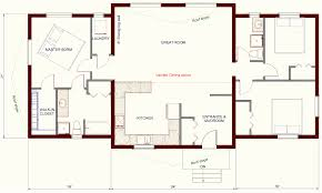 house plans with open kitchen and living room 6859