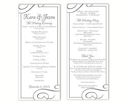 Wedding Bulletin Templates Wedding Program Template Diy Editable Word File Instant Download