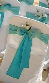 turquoise chair sashes sea mist organza chair back decoration timelesstreasure