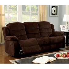 Chenille Reclining Sofa Furniture Of America Walton Chenille Reclining Sofa