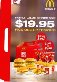 mcdonald s family dinner box 19 95 family value dinner bo flickr