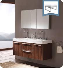 Modern Walnut Bathroom Vanity Fresca Fvn8013gw Opulento 54 Walnut Modern Sink Bathroom