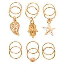 hair ring gold charm hair rings s
