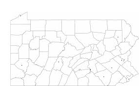 Pennsylvania Cities Map by Blank Pennsylvania City Map Free Download